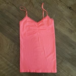 Victoria's Secret camisole, hot pink with lace